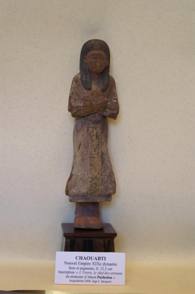 Chaouabti  au nom de Pashedou - Bois - Nouvel Empire XIXè Dynastie