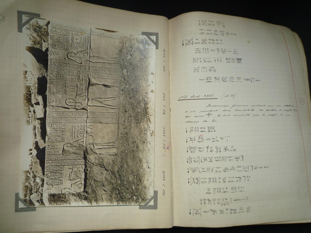 Cahier d'étude d'Etienne Drioton.
