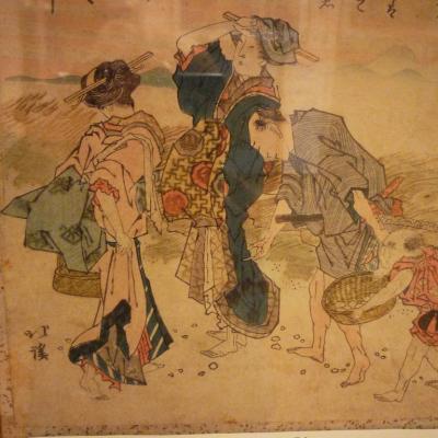 Estampe Toyota Hokkei, époque Meiji