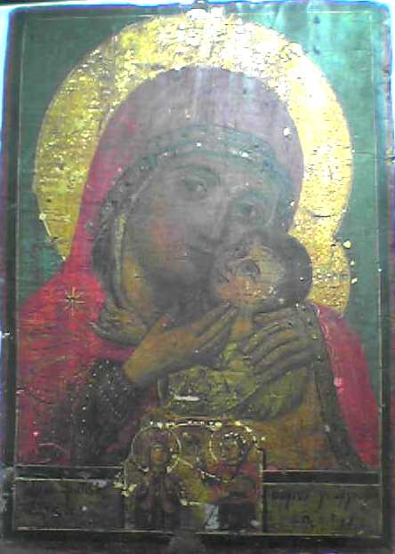 Icône grecque. Vierge de tendresse 1842