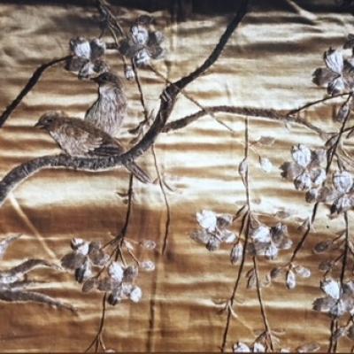 Soie brodée (détail) Chine, fin XIX/début XXe siècle