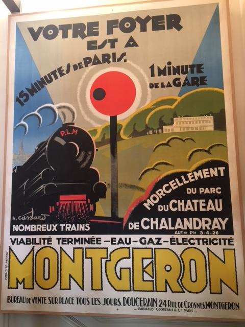 Affiche par H. Cassard, vers 1926, sur le morcellement du parc de Chalandray.