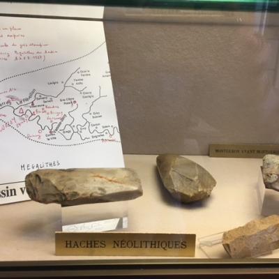 Haches du Néolithique trouvées à Montgeron