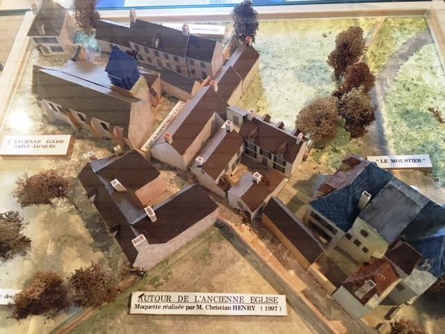 Maquette du quartier de l'ancienne église (aujourd'hui disparue)