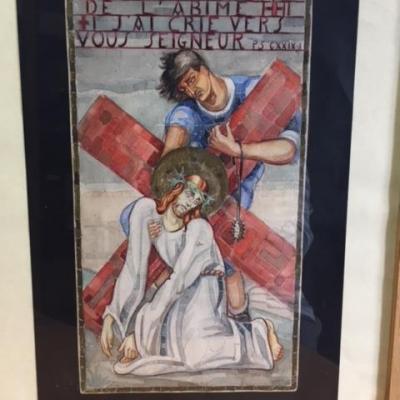 Maquette pour le chemin de croix de l'église St Jacques à Montgeron (Atelier Maumejan)