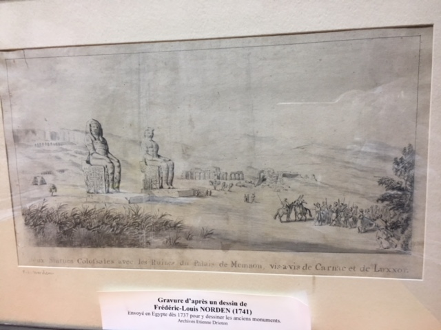Gravure d'après un dessin de Frédéric-Louis Norden (1741)