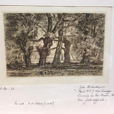"""Jules Michelin """"Souvenir du Bas Bréau"""", 1868"""
