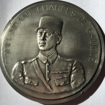 Le Commandant Charles de Gaulle au Liban, par Lay