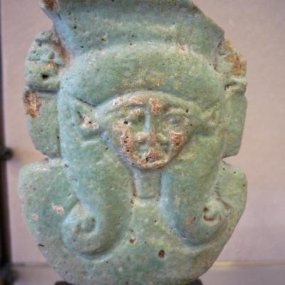 Fragment de sistre à l'effigie d'Hathor - XXVIè/XXXè Dynastie
