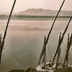 Le Nil à Louxor (cliché réalisé par Etienne DRIOTON).