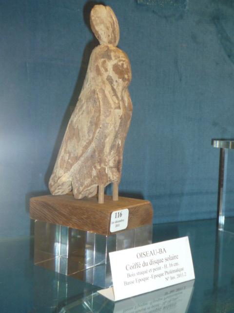 Oiseau-ba coiffé du disque solaire - Basse Epoque - Epoque Ptolémaïque