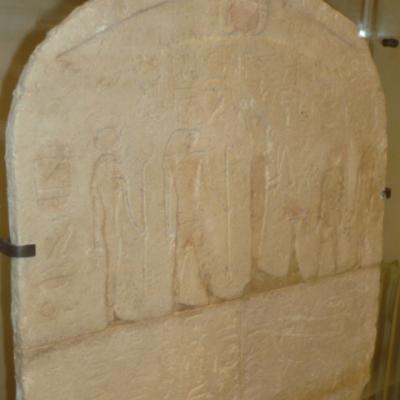 Stèle au nom de Hor-Ankh - Début de la XXVIème Dynastie (Voir la page suivante)