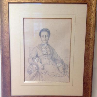 """Paul Flandrin """"Portrait de femme assise"""""""