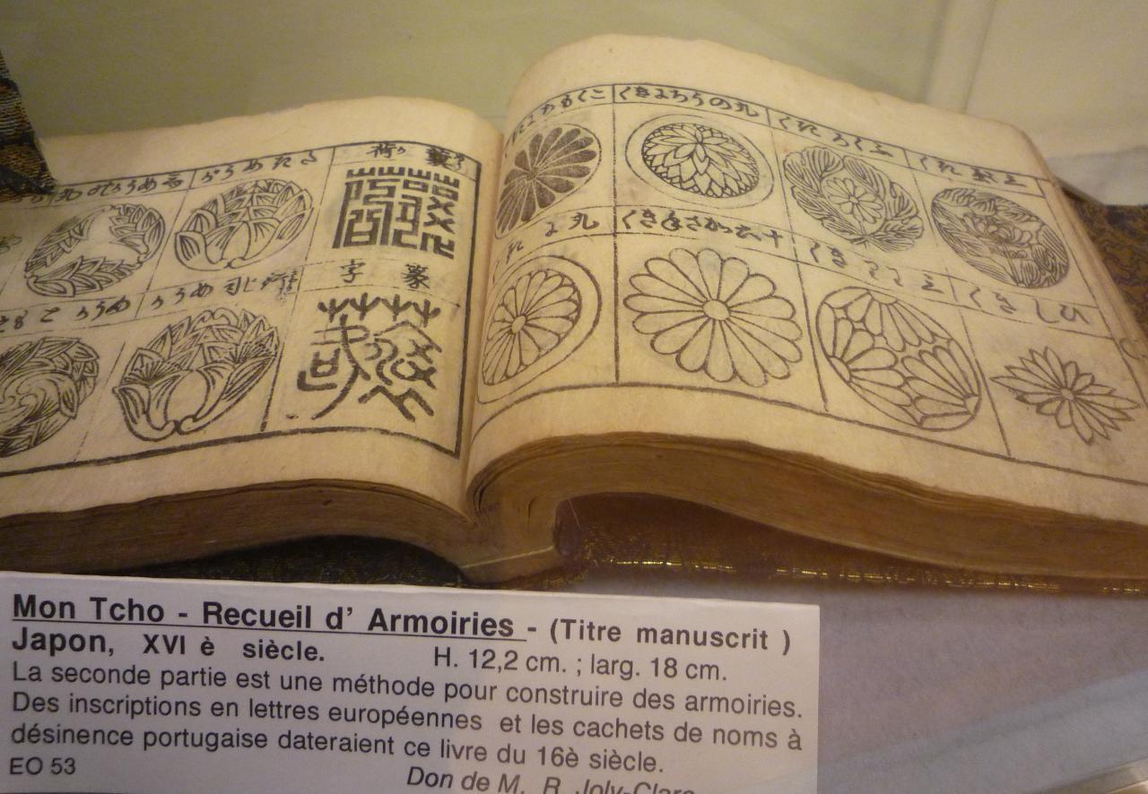Recueil d'armoiries, Japon, XVIème siècle
