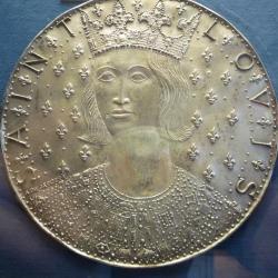 Saint Louis, médaillon d'argent d'après Albert Jaeger