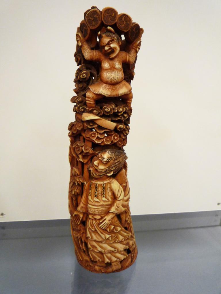 Sculpture  d'ivoire, japon, époque Meiji