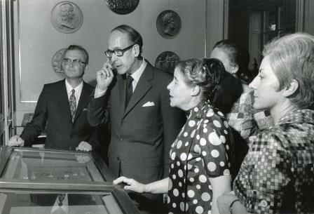 4 mars 1970 inauguration de l'exposition la médalle au temps de Louis XIV