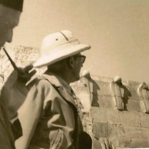 Drioton et Lauer à Saqquara